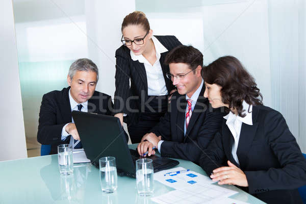 Business team have a meeting Stock photo © AndreyPopov