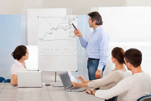 Businesspeople Discussing The Presentation Stock photo © AndreyPopov
