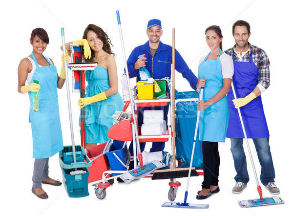 Group of professional cleaners Stock photo © AndreyPopov