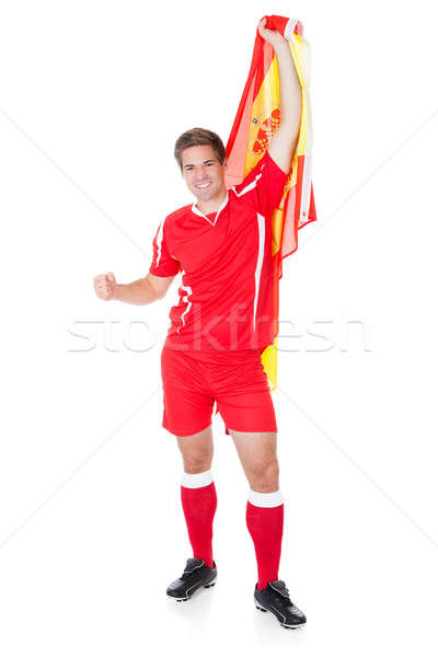 футболист испанский флаг белый Футбол спорт Сток-фото © AndreyPopov