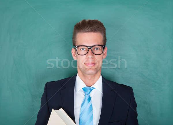 Portret mężczyzna profesor młodych wykładowca stałego Zdjęcia stock © AndreyPopov