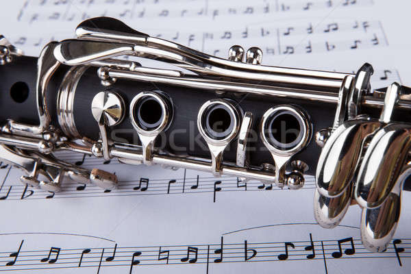 Clarinet And Musical Note Stock photo © AndreyPopov
