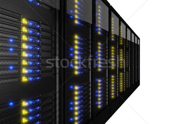 Row of many server racks Stock photo © AndreyPopov