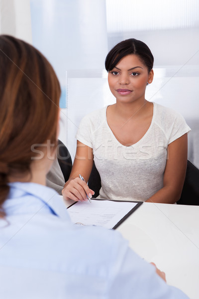 Businesswoman Interviewing  Female Applicant Stock photo © AndreyPopov
