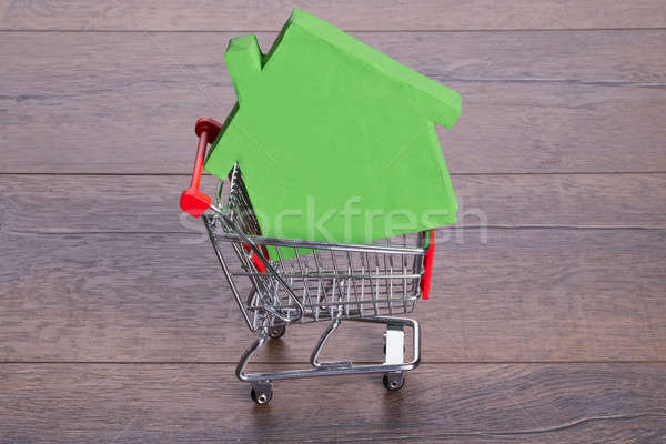 House in shopping cart Stock photo © AndreyPopov