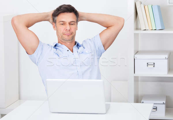 Man Using Laptop Stock photo © AndreyPopov