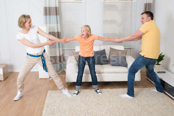Parents Under Divorce Dividing Kids Stock photo © AndreyPopov