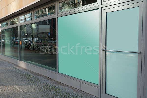 Edificio vidrio ventana cerrado puerta Foto stock © AndreyPopov