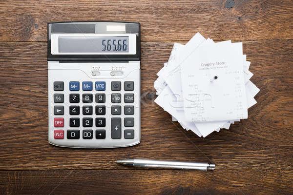 калькулятор пер мнение таблице бумаги Сток-фото © AndreyPopov