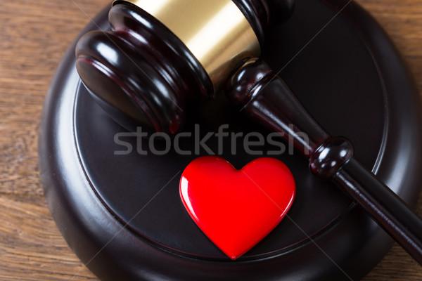 Herz Tabelle Gerichtssaal Ansicht Recht Stock foto © AndreyPopov