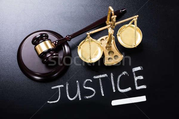 Justice Concept On Blackboard Stock photo © AndreyPopov