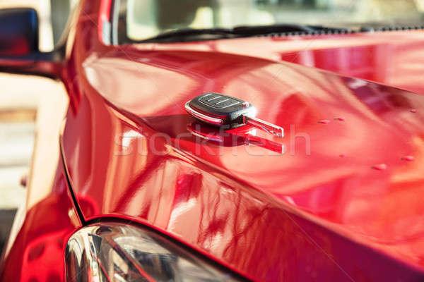 Car Key On New Car Stock photo © AndreyPopov