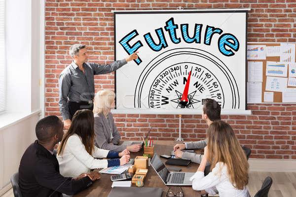 Future And Compass Guidance Concept Presentation Stock photo © AndreyPopov