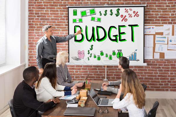 予算 金融 プレゼンテーション グループの人々  女性 男 ストックフォト © AndreyPopov