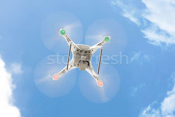Zdjęcia stock: Pływające · Błękitne · niebo · widoku · technologii · bezpieczeństwa