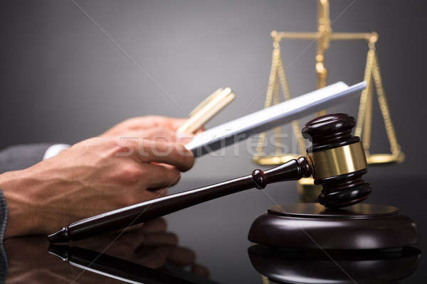 Close-up Of A Gavel Stock photo © AndreyPopov