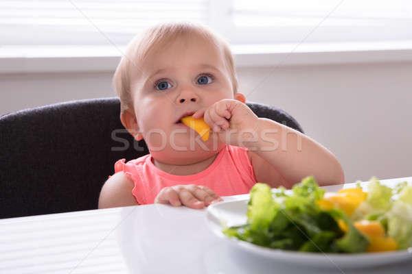 Mangiare sano alimentare primo piano colazione ragazza Foto d'archivio © AndreyPopov