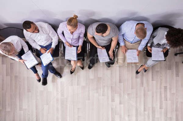 Rij mensen wachten sollicitatiegesprek business Stockfoto © AndreyPopov