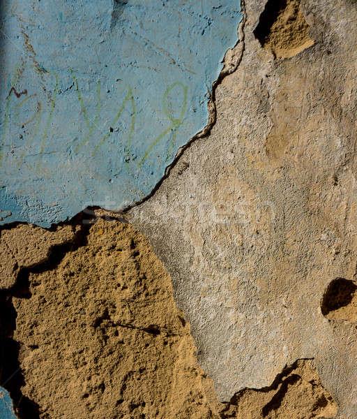 Vieux mur concrètes surface plâtre couvert Photo stock © Andriy-Solovyov