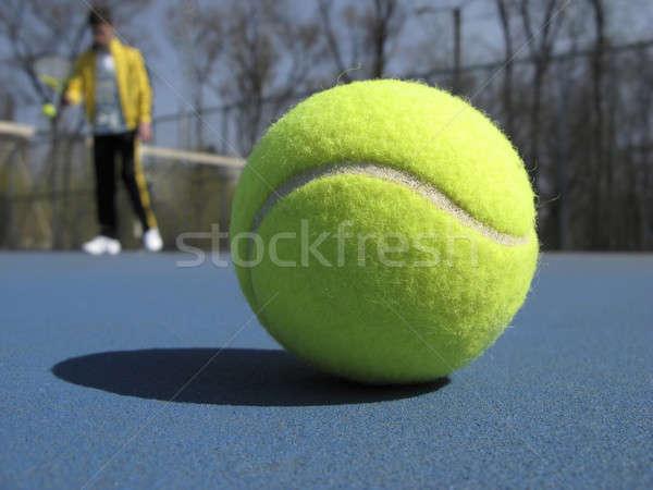 Tenis tenis topu mahkeme adam Stok fotoğraf © Andriy-Solovyov