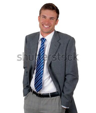 Człowiek mylić atrakcyjny nice biznesmen odizolowany Zdjęcia stock © Andriy-Solovyov