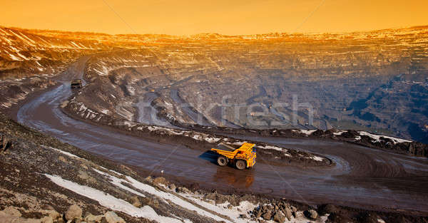 Stock photo: delivery of iron ore