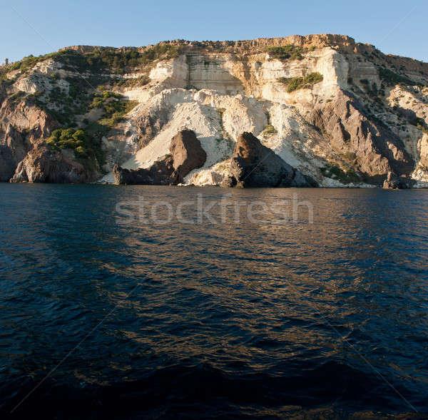 Zeegezicht vernietiging strand water natuur landschap Stockfoto © Andriy-Solovyov