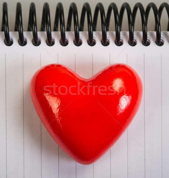 Valentine parlak kırmızı kalp simge gün Stok fotoğraf © Andriy-Solovyov