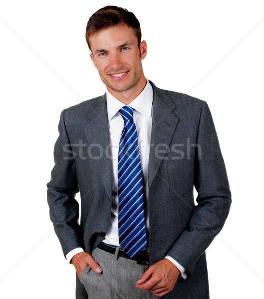 Retrato jovem empresário perspectiva bom isolado Foto stock © Andriy-Solovyov