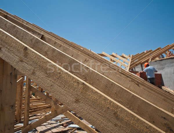 construction of a roof Stock photo © Andriy-Solovyov