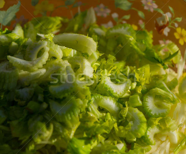 Selderij gehakt salade zomer dorp blad Stockfoto © Andriy-Solovyov