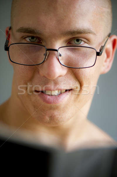 Jovem vigoroso empresário óculos atrás Foto stock © Andriy-Solovyov