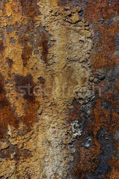 Enferrujado metal corrosão ferrugem folha fundo Foto stock © Andriy-Solovyov