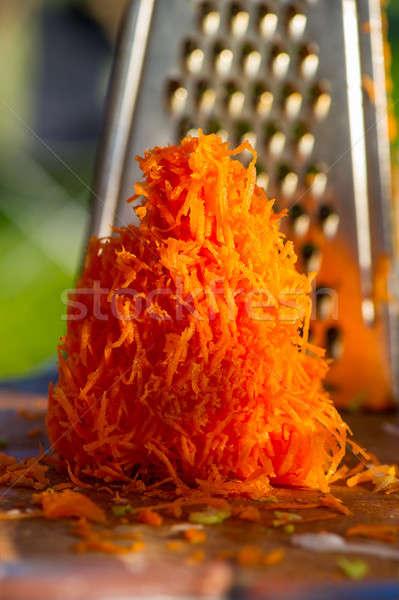 old shredder residues with carrots Stock photo © Andriy-Solovyov