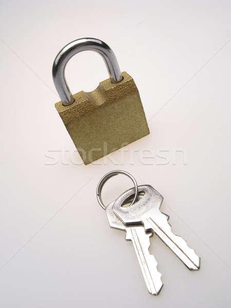 padlock and two key Stock photo © Andriy-Solovyov