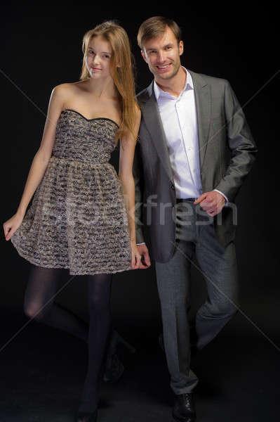 Retrato bom casal homem mulher posando Foto stock © Andriy-Solovyov