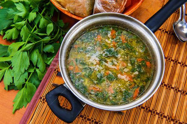 Sopa fresco cozinhado verão aldeia comida Foto stock © Andriy-Solovyov