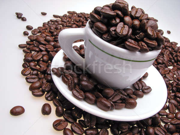 grains coffee and cup Stock photo © Andriy-Solovyov