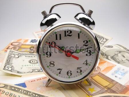 alarm clock and money Stock photo © Andriy-Solovyov