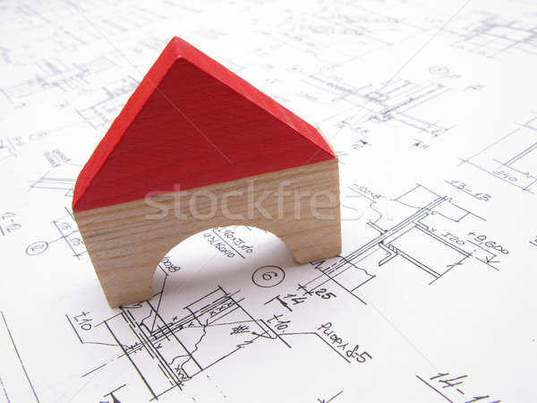 Toy house and drawings Stock photo © Andriy-Solovyov