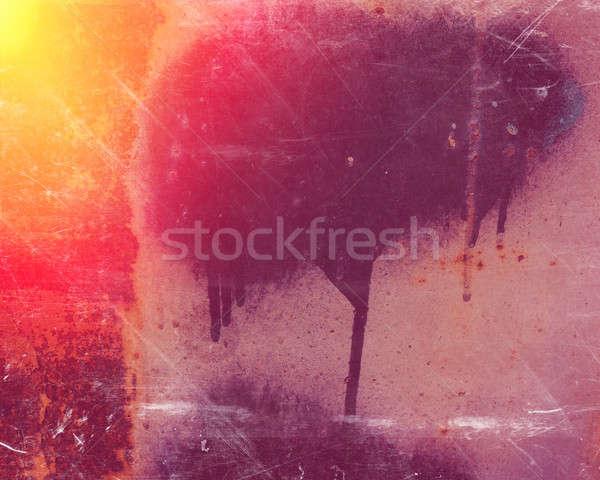 Superfície metal folha coberto velho pintar Foto stock © Andriy-Solovyov
