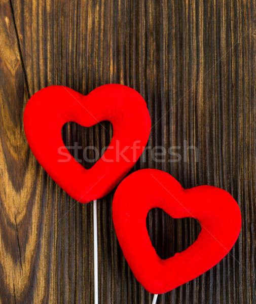 Coração dia dos namorados velho rachado conselho amor Foto stock © Andriy-Solovyov