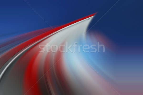 Abstrato dinâmico cor linhas pintar vermelho Foto stock © Andriy-Solovyov