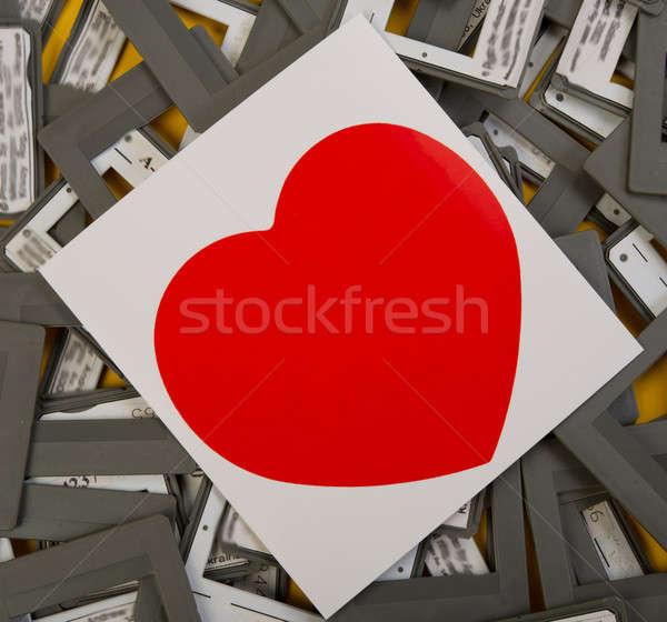 Valentine gün resim simge eski slayt Stok fotoğraf © Andriy-Solovyov