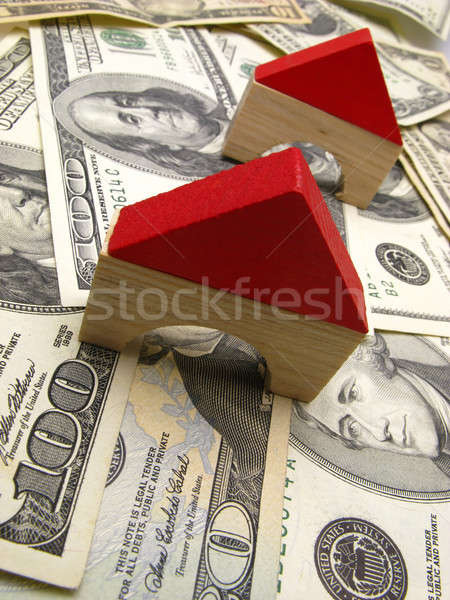 toy house and dollar Stock photo © Andriy-Solovyov