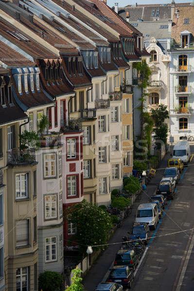 İsviçre modern ev yol şehir Stok fotoğraf © Andriy-Solovyov