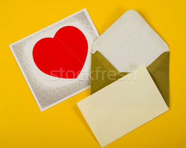 Quadro vermelho coração valentine mentiras Foto stock © Andriy-Solovyov