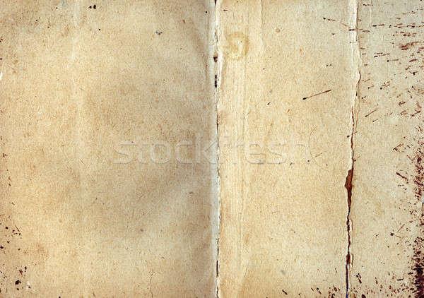 Starej książki okładka papieru tle wzór Zdjęcia stock © Andriy-Solovyov