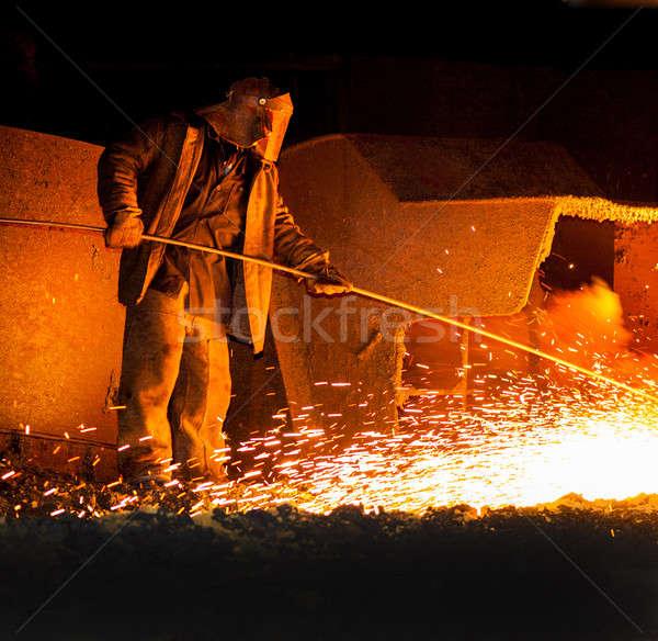 Produção profissional ferro homem trabalhar Foto stock © Andriy-Solovyov