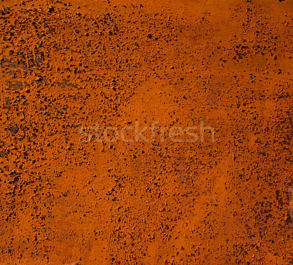 Velho metal enferrujado folha coberto pintar Foto stock © Andriy-Solovyov